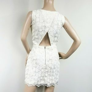 ANTHROPOLOGIE  LINED OPEN BACK CUTE DRESS L